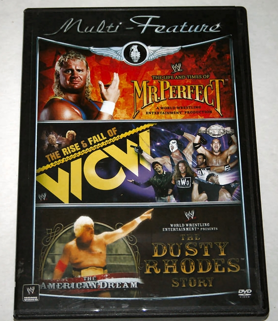 WWE 'Multi-Feature' DVD - Mr. Perfect, Rise & Fall of WCW & Dusty Rhodes!