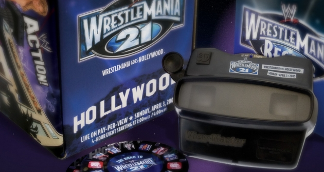 Rare WWE WrestleMania 21 PPV Promo Pack - DVD & 3D Viewer