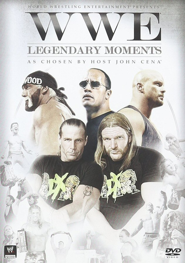 WWE - Legendary Moments DVD, Front Cover Artwork