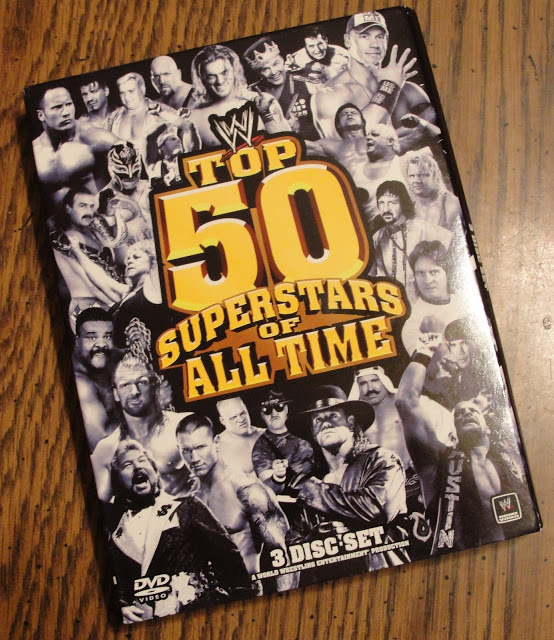 WWE 'Top 50 Superstars of All Time' DVD - Photos, Front Cover
