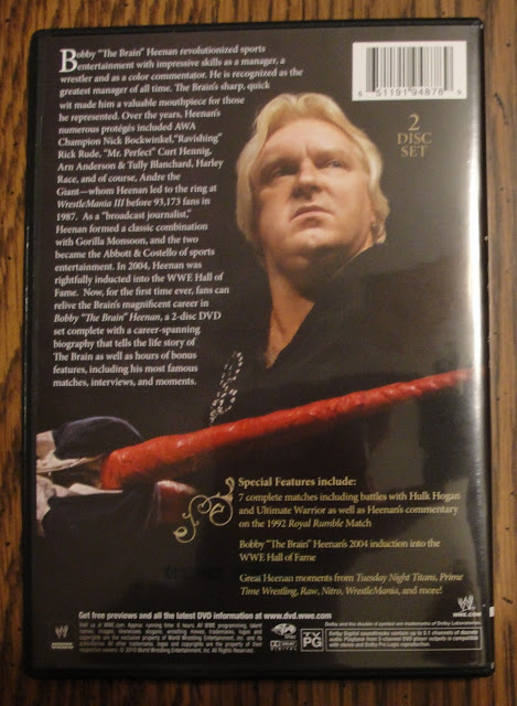 WWE Bobby 'The Brain' Heenan DVD - Photos, Back Cover