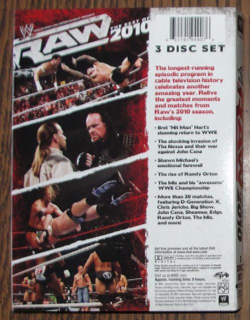 WWE Raw Best of 2010 DVD - Photos, Back
