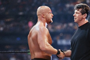 WWE - Stone Cold Steve Austin Shakes Hands with Vince McMahon!