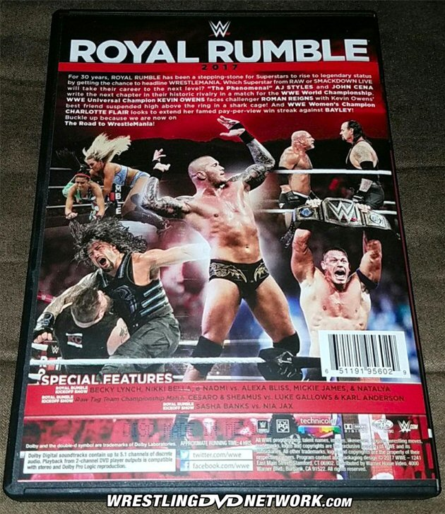 WWE Royal Rumble 2017 DVD - First Look Photos