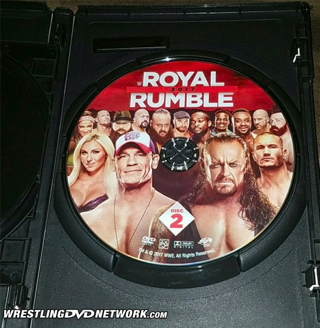 WWE Royal Rumble 2017 DVD - Exclusive Photos, 2 Disc Set