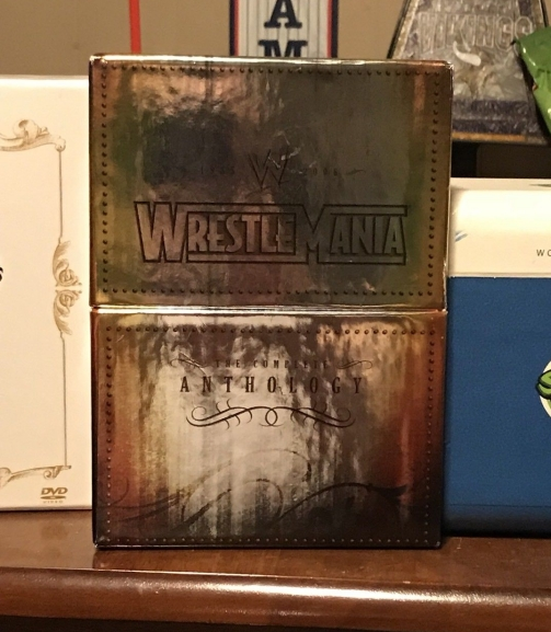 WWE WrestleMania Anthology 1985-2006 DVD Box Set On Display