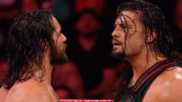 WWE - Seth Rollins Gauntlet Match, Face Off with Roman Reigns