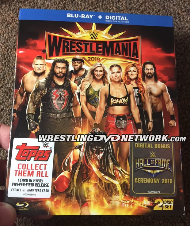 WWE WrestleMania 35 Blu-ray - Photos, Front Cover